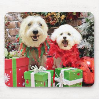 Christmas - Havanese - Steve - Terrier X - Edie Mousepads