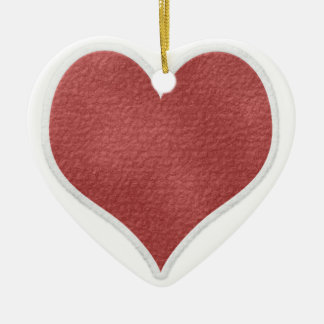 Christmas heart ceramic ornament