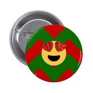 christmas heart eye emoji button