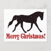 Christmas Heart Horse Postcard