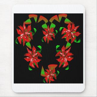 Christmas Heart Mouse Pad