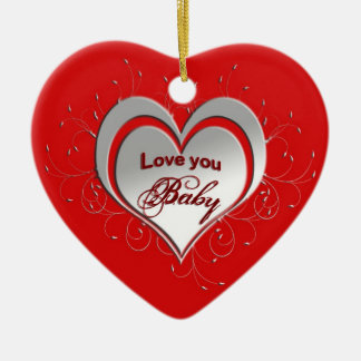 Christmas Heart Ornament - Personalized Christmas Tree Ornaments