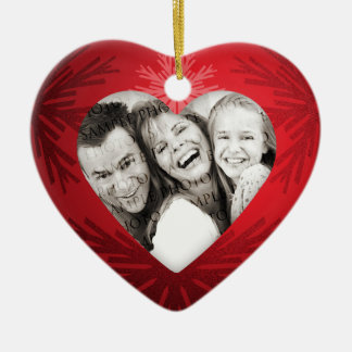 Christmas Heart Personalized Photo ornament