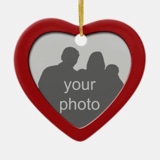 Christmas Heart Photo Frame Ornament