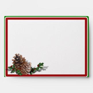 Christmas Heart Wreath Envelopes