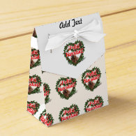 Christmas Heart Wreath (Feliz Navidad) Favor Box