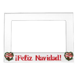 Christmas Heart Wreath (Feliz Navidad) Magnetic Frames