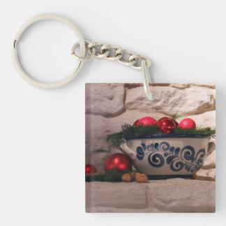 Christmas Hearth Keychain