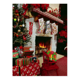 Christmas Hearth Postcard