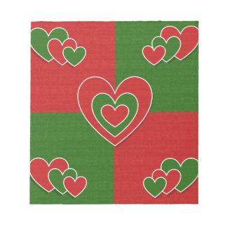 Christmas Hearts #2 Note Pad