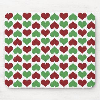 Christmas Hearts Mouse Pad