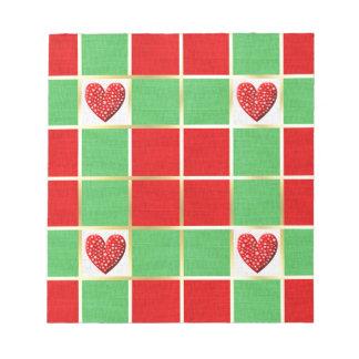 Christmas Hearts Notepad