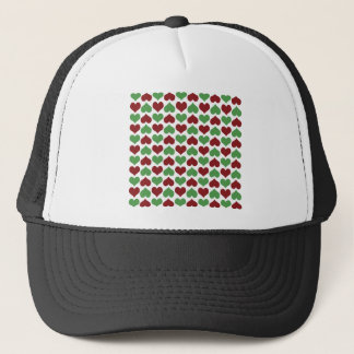 Christmas Hearts Trucker Hat
