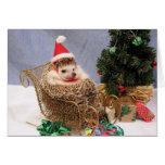 Christmas Hedgehog Card