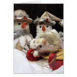 Christmas Hedgehog seasonal card