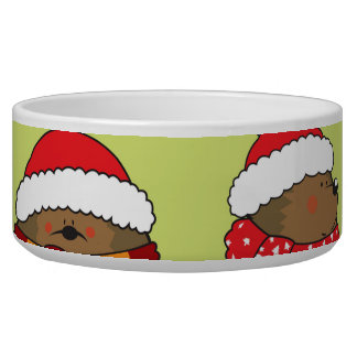 Christmas hedgehogs bowl