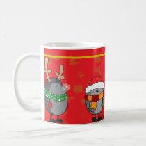 Christmas hedgehogs coffee mug
