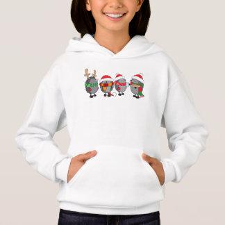 Christmas hedgehogs hoodie