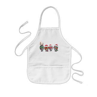 Christmas hedgehogs kids' apron