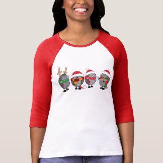 Christmas hedgehogs tee shirt