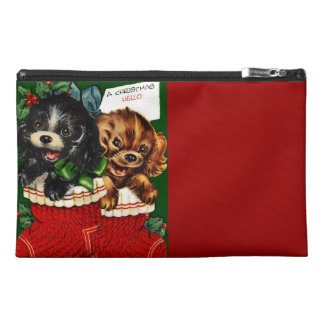 Christmas Hello Puppies Travel Accessories Bags