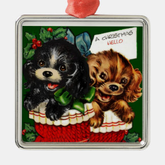 Christmas Hello Puppies Ornaments