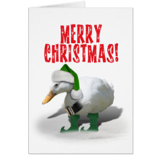 Christmas  Helper Duck Elf Card