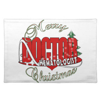 CHRISTMAS HEMATOLOGIST DOCTOR CLOTH PLACE MAT