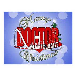 CHRISTMAS HEMATOLOGIST DOCTOR POSTCARD