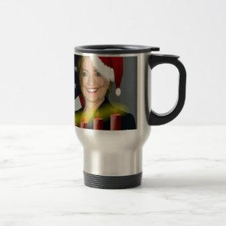 christmas hillary clinton 15 oz stainless steel travel mug