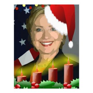 christmas hillary clinton letterhead