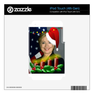 christmas hillary clinton skin for iPod touch 4G