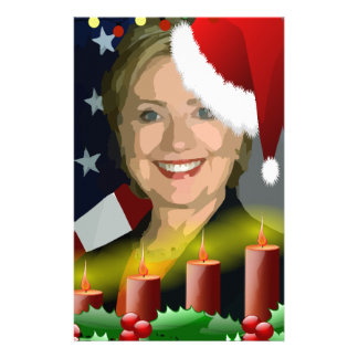 christmas hillary clinton stationery