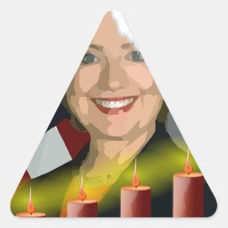 christmas hillary clinton triangle sticker