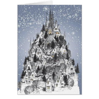 Christmas Hilltown Greeting Card