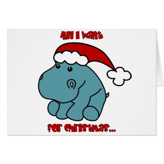 Christmas Hippo Card