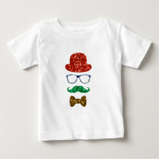 christmas hipster mustache baby T-Shirt