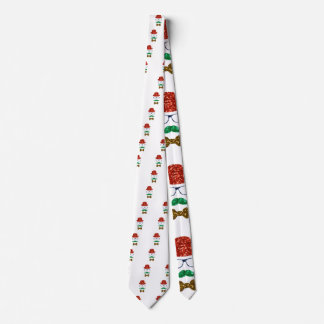 christmas hipster mustache tie