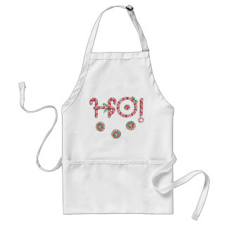 Christmas Ho Candy Apron for a Cookie Baking