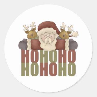 Christmas Ho Ho Ho Santa Stickers