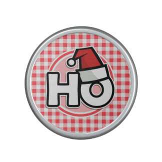 Christmas HO Red and White Gingham Bluetooth Speaker