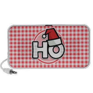 Christmas HO Red and White Gingham Travelling Speaker