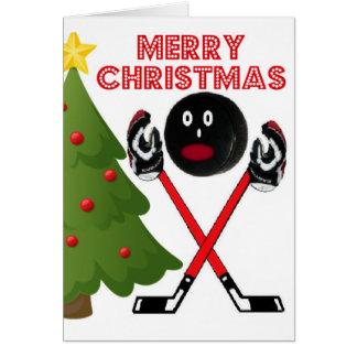 Christmas Hockey Card