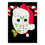 Christmas hockey team greeting card