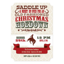 Christmas Hoedown Invitation