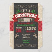Christmas Hoedown Party Invitation