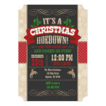 Christmas Hoedown Party Invitation