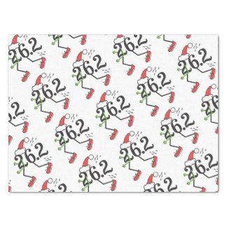 "Christmas Holiday 26.2 Funny Marathon Runner 15"" X 20"" Tissue Paper"