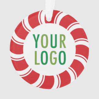 Christmas Holiday Acrylic Ornament Company Logo