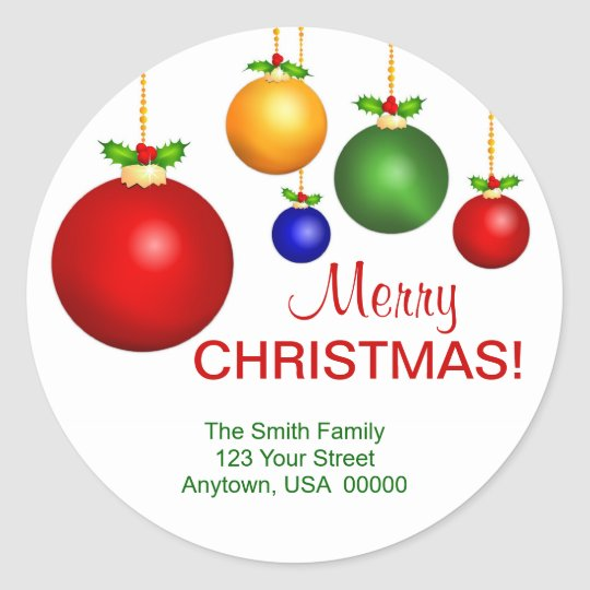 Christmas Holiday Address Labels